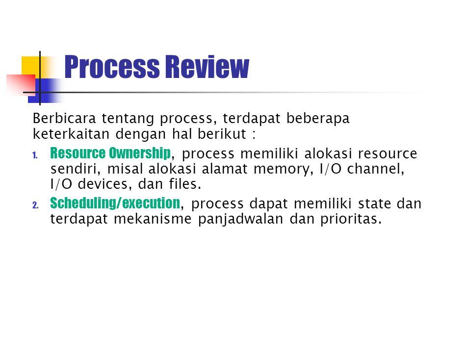 Process Review Berbicara tentang process, terdapat beberapa keterkaitan dengan hal berikut : 1.