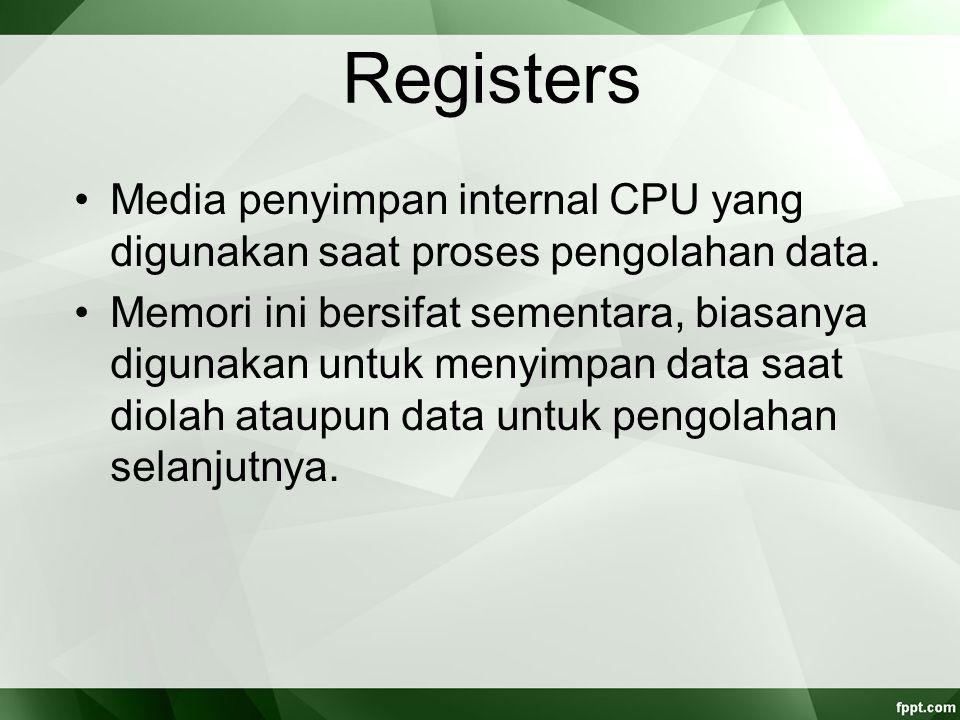CPU Interconnections Sistem koneksi dan bus yang menghubungkan komponen internal dan bus – bus eksternal CPU Komponen internal CPU yaitu ALU, CU, dan register – register.