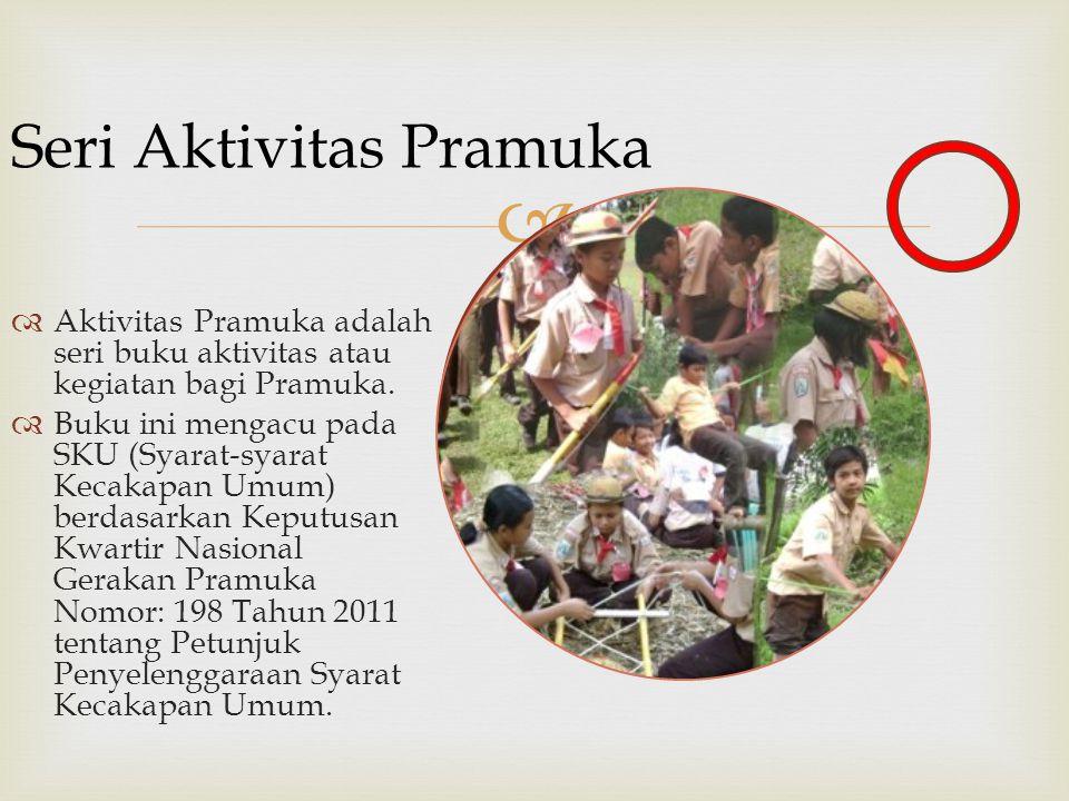   Aktivitas Pramuka adalah seri buku aktivitas atau kegiatan bagi Pramuka.  Buku ini mengacu pada SKU (Syarat-syarat Kecakapan Umum) berdasarkan Ke