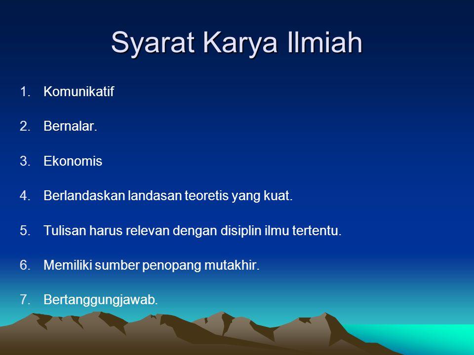 PROPOSAL PENELITIAN KUALITATIF (lanjutan) 5.
