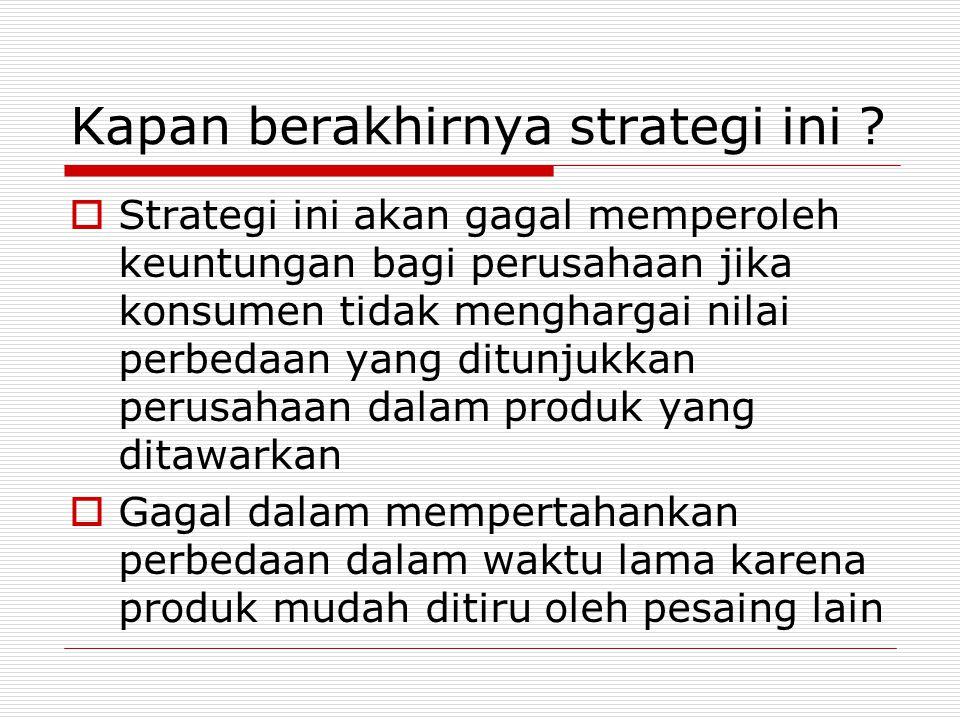 Strategi ini ampuh di mana.