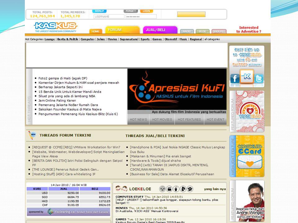 Kaskus : Kasak Kusuk.Situs forum komunitas maya terbesar Indonesia.