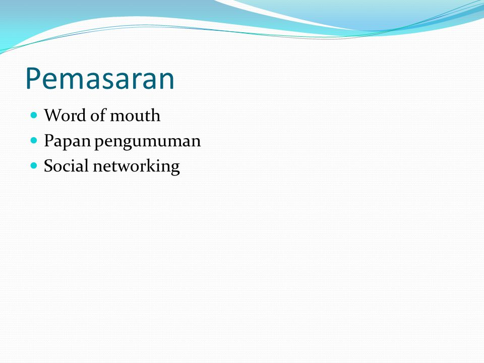 Pemasaran Word of mouth Papan pengumuman Social networking