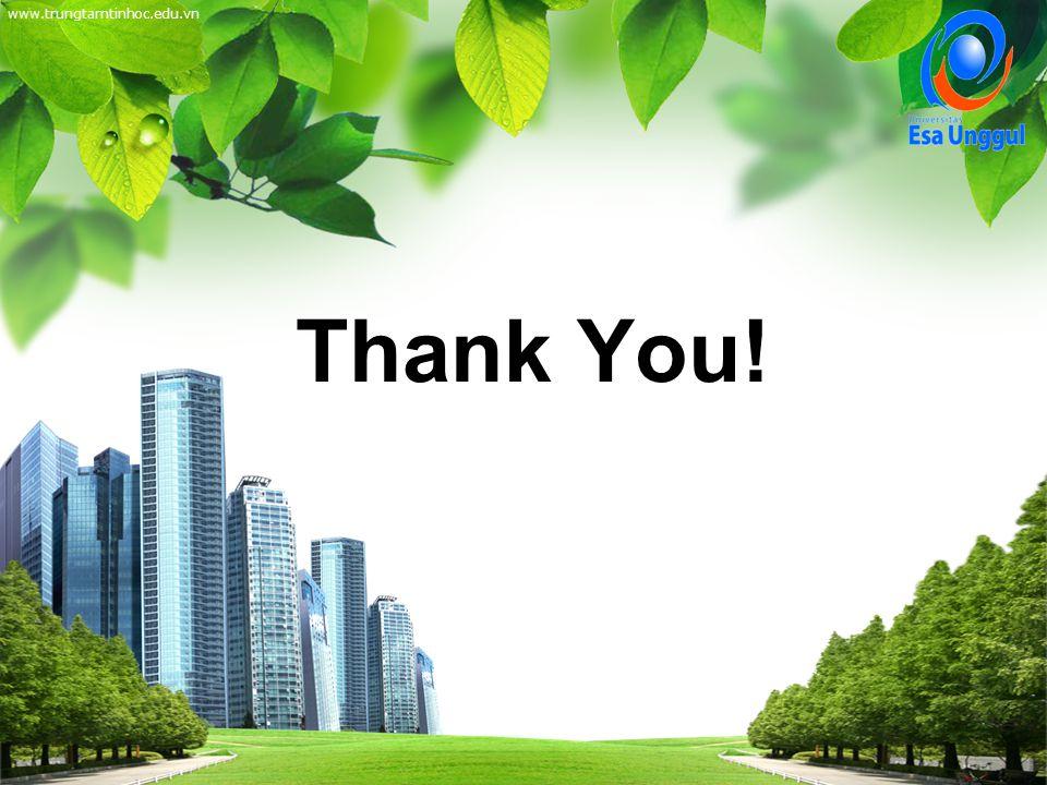 www.trungtamtinhoc.edu.vn Thank You! Thank You!