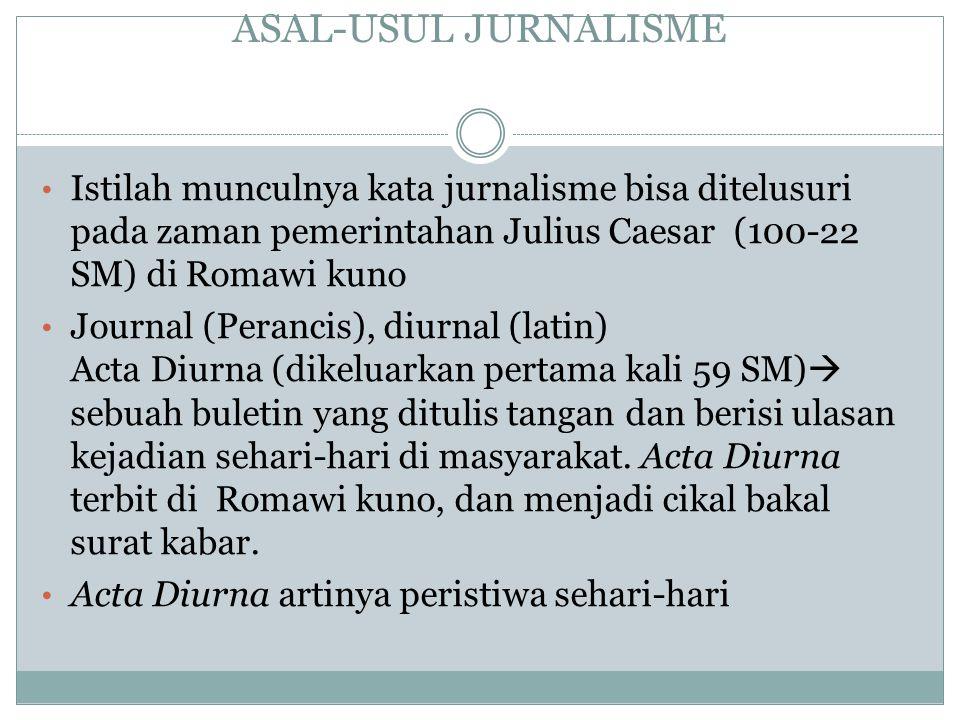 Penerbitan zaman Julius caesar Acta Diurna.