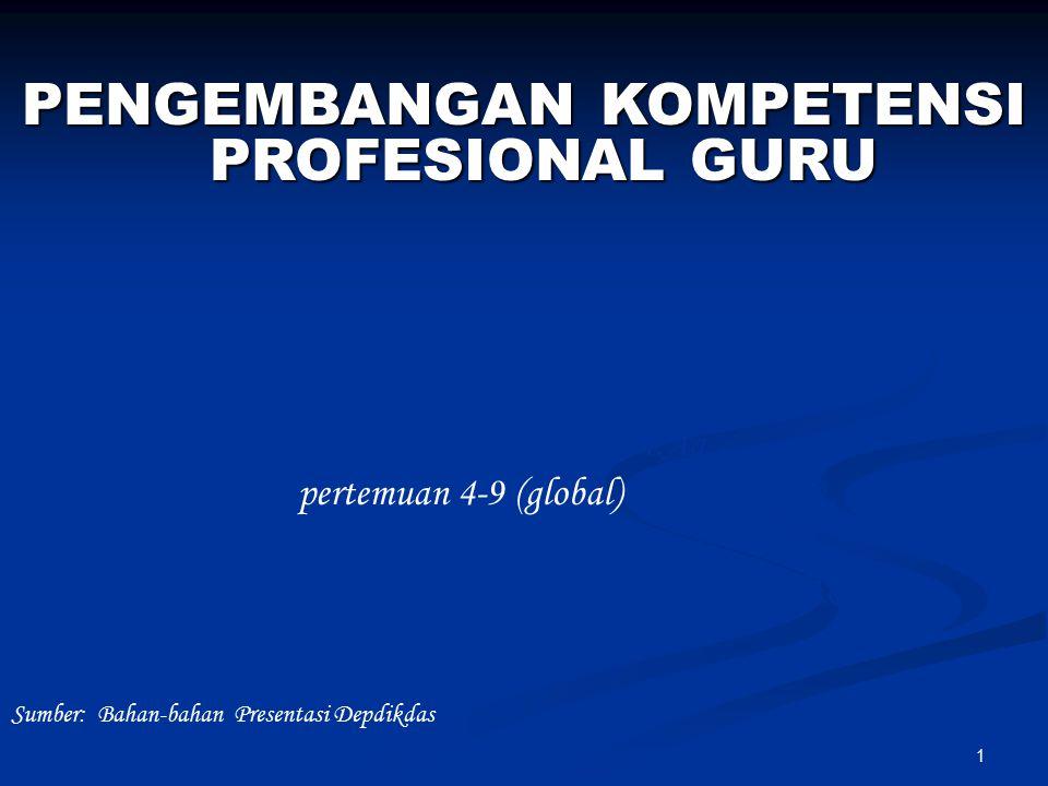 1 Prof. Dr. Sutrisno, M.Ag Dr. Hpertemuan 4-9 (global) Hamami, MA. pp Dosen Fakultas Tarbiyah UIN Sunan Kalijaga PENGEMBANGAN KOMPETENSI PROFESIONAL G