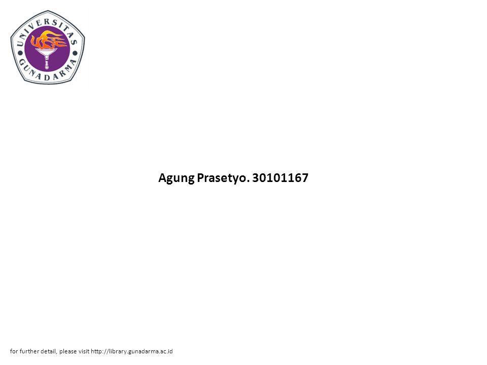 Abstrak ABSTRAKSI Agung Prasetyo.
