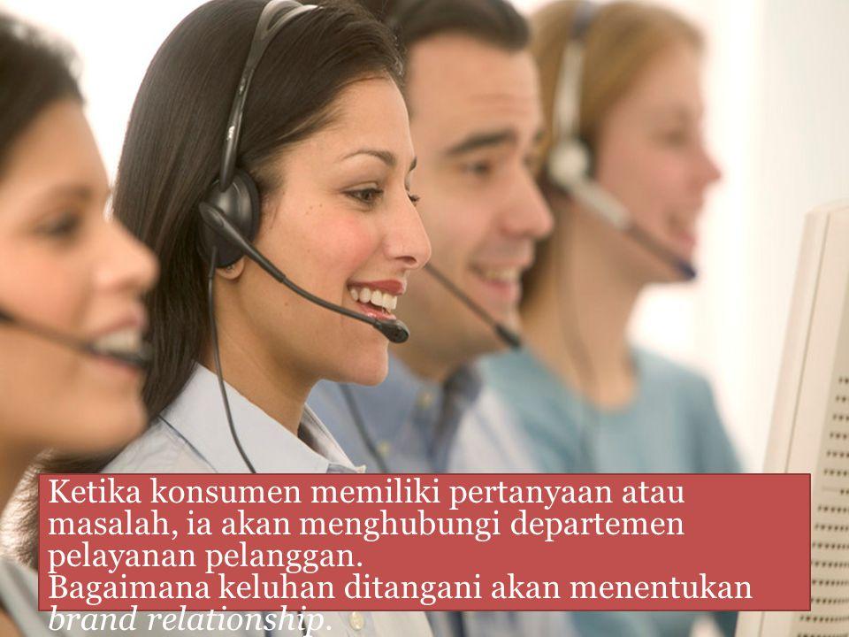 Konsumen tidak mengharapkan perusahaan akan sempurna namun mengharapkan bahwa masalah akan segera diatasi.