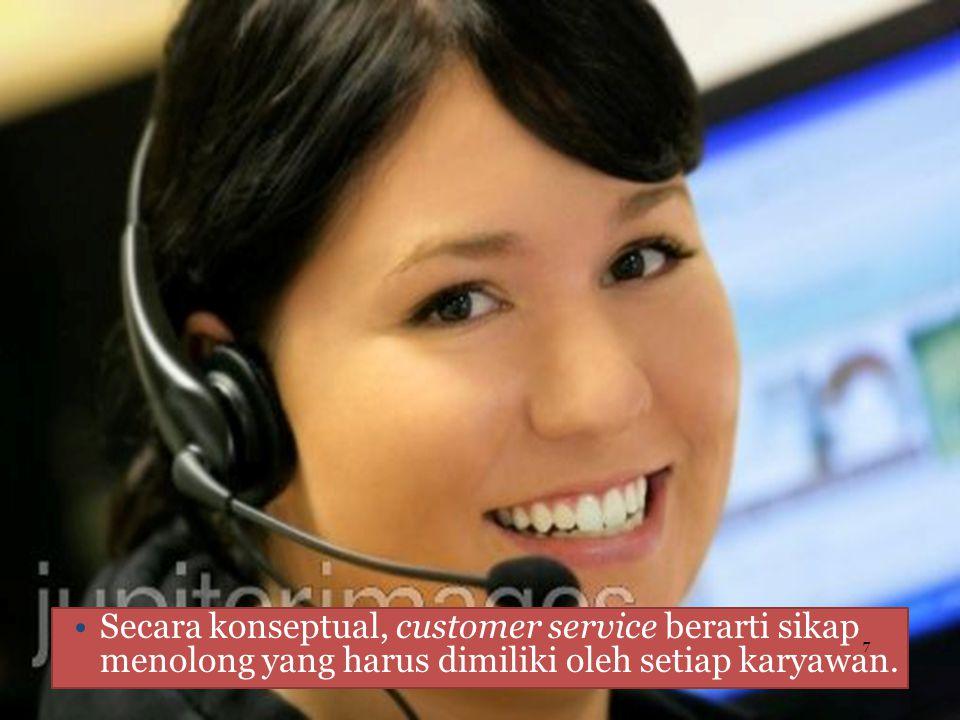 fungsi customer service adalah menjawab pertanyaan dan mengatasi keluhan. 8