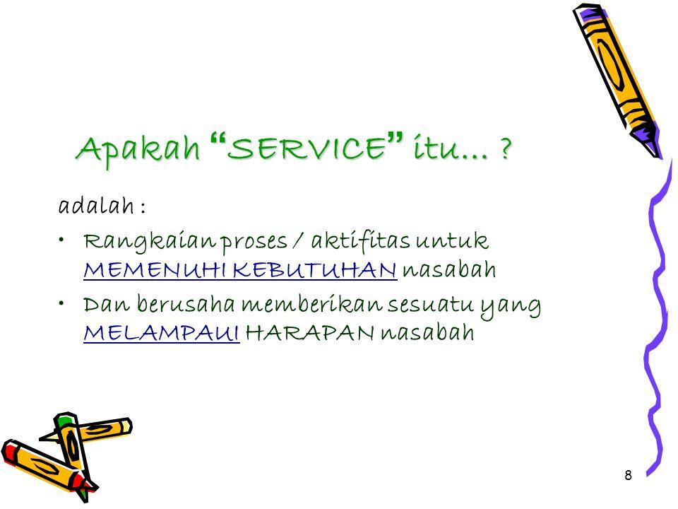 8 Apakah SERVICE itu… .
