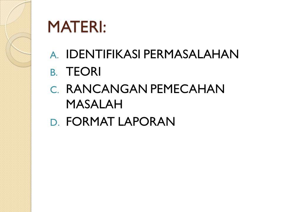 A. IDENTIFIKASI MASALAH MASALAH BERSUMBER PADA 2 HAL INI