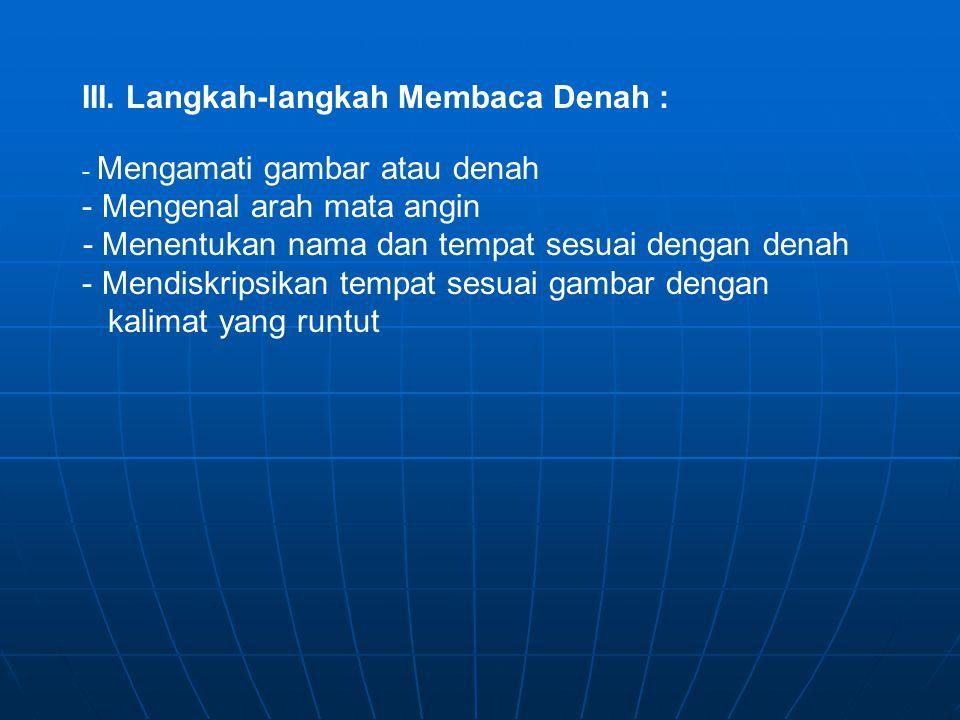 IV.Menggambar Denah Bacalah Penjelasan di bawah ini.