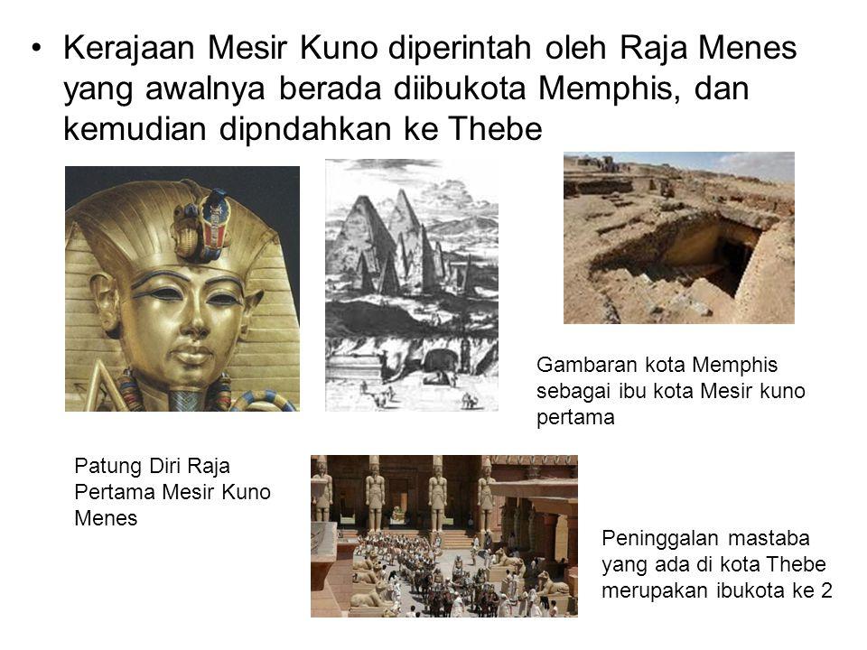 Bentuk bangunan Piramida mulai dibangun pada generasi ketiga dengan bentuk piramida bertangga atau juga disebut Sakkarah Piramida pertama mesir dibangun dengan bentuk menyerupai tangga berundak-undak Penampang bangunan piramida Mesir Kuno, yang menunjukkan adanya suatu tempat di bawah tanah yang dihubungkan dengan suatu lorong