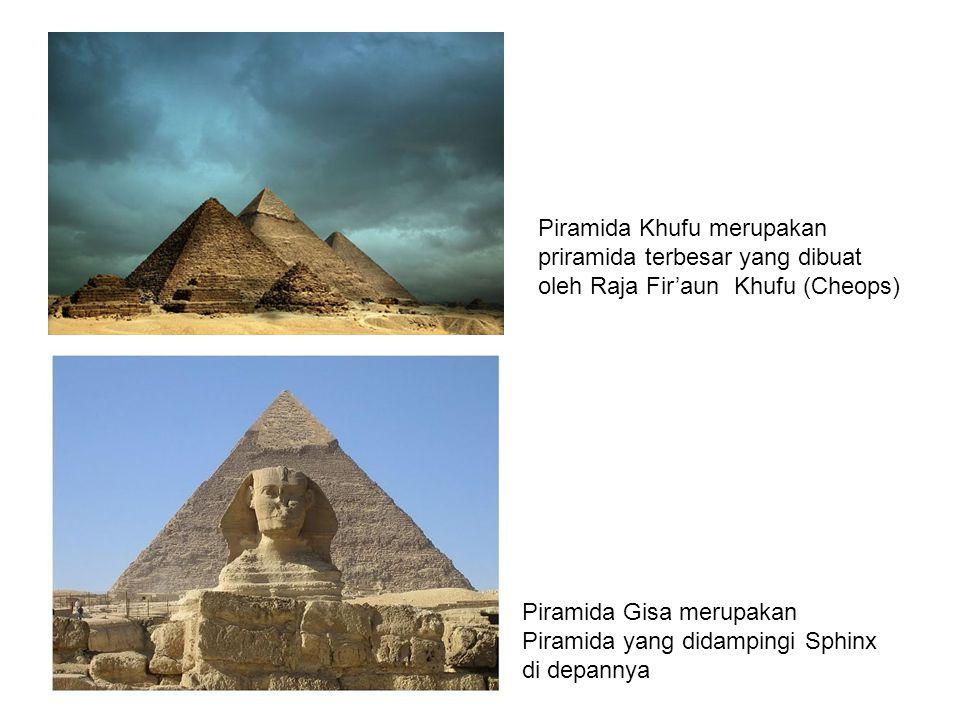 Peta peninggalan bangunan Piramida Mesir kuno