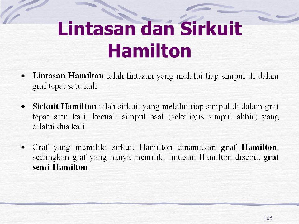 105 Lintasan dan Sirkuit Hamilton