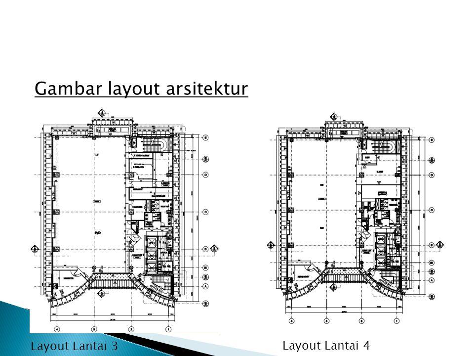 Gambar layout arsitektur Layout Lantai 3 Layout Lantai 4