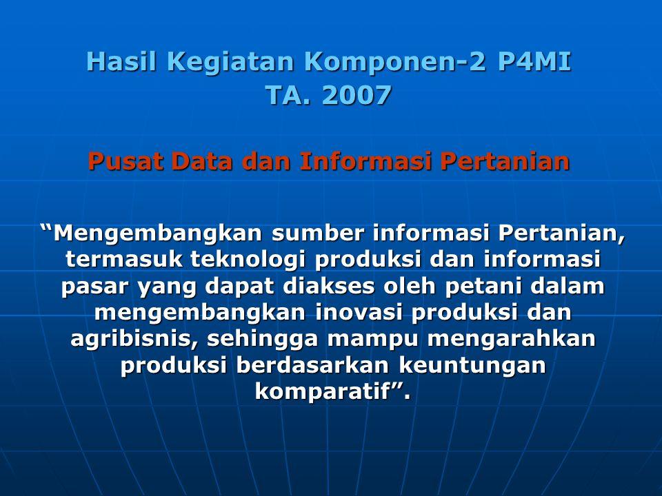 Hasil Kegiatan Komponen-2 P4MI TA.