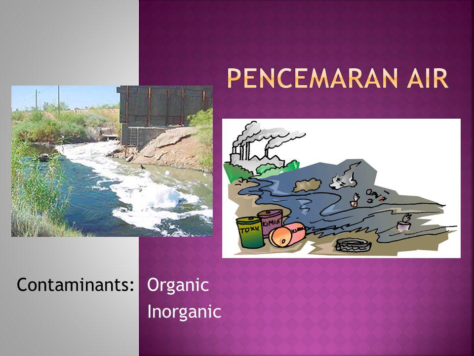 Organic Inorganic Contaminants: