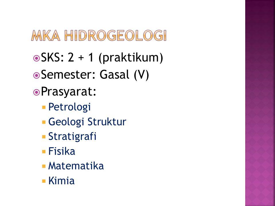  SKS: 2 + 1 (praktikum)  Semester: Gasal (V)  Prasyarat:  Petrologi  Geologi Struktur  Stratigrafi  Fisika  Matematika  Kimia