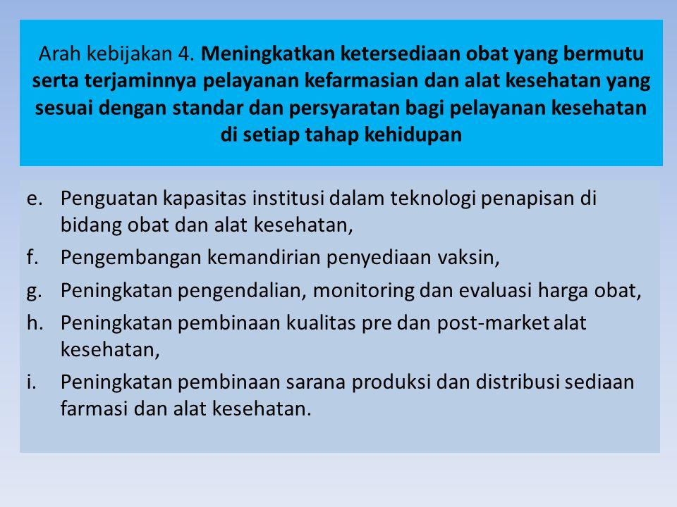 Arah kebijakan 4.