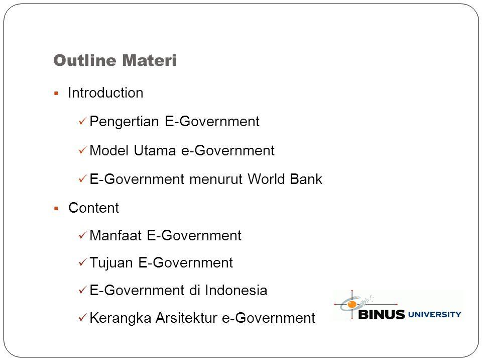 E-Government di Indonesia (continued..) Administrasi perkantoran MAYA (siMAYA) Pegawai Negeri Sipil Mail (PNSMail) Private Network Security Box (PNSBox) Data Center e-Government