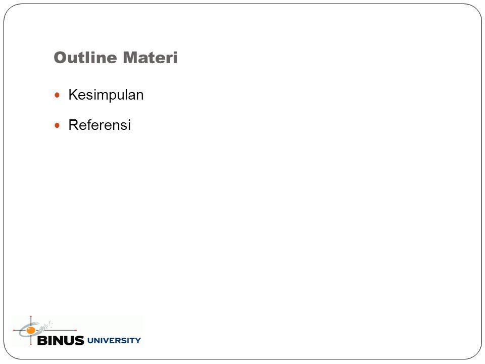 Outline Materi Kesimpulan Referensi