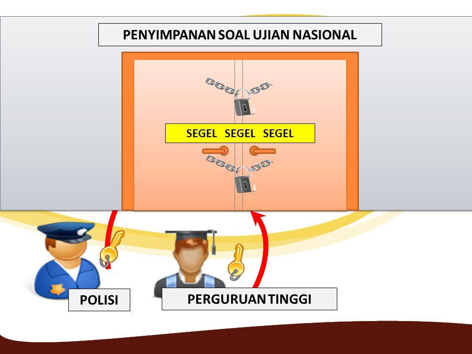 PENYIMPANAN SOAL UJIAN NASIONAL SEGEL SEGEL SEGEL POLISI PERGURUAN TINGGI