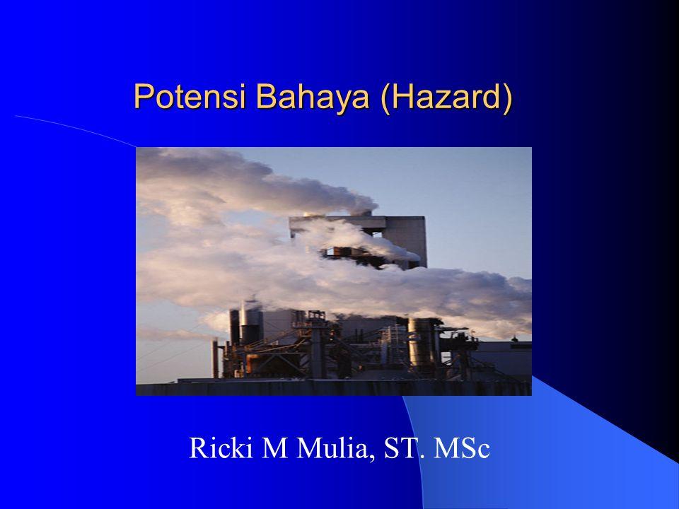 Potensi Bahaya (Hazard) Ricki M Mulia, ST. MSc