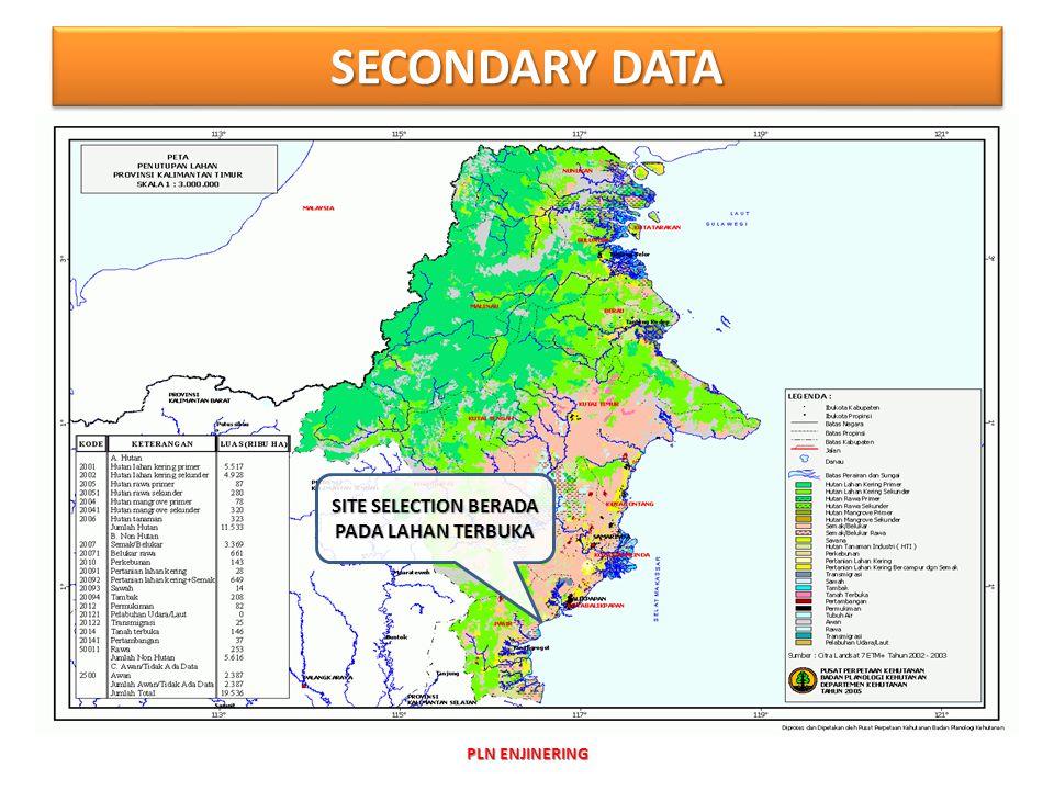 SECONDARY DATA PLN ENJINERING SITE SELECTION BERADA PADA LAHAN TERBUKA