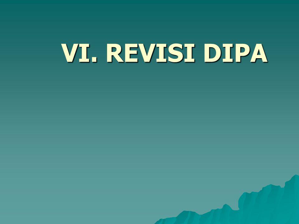 VI. REVISI DIPA