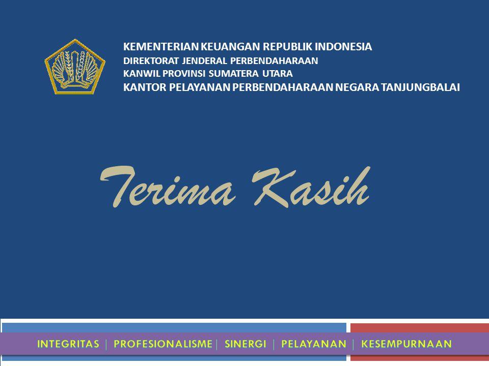 KEMENTERIAN KEUANGAN REPUBLIK INDONESIA DIREKTORAT JENDERAL PERBENDAHARAAN KANWIL PROVINSI SUMATERA UTARA KANTOR PELAYANAN PERBENDAHARAAN NEGARA TANJUNGBALAI Terima Kasih