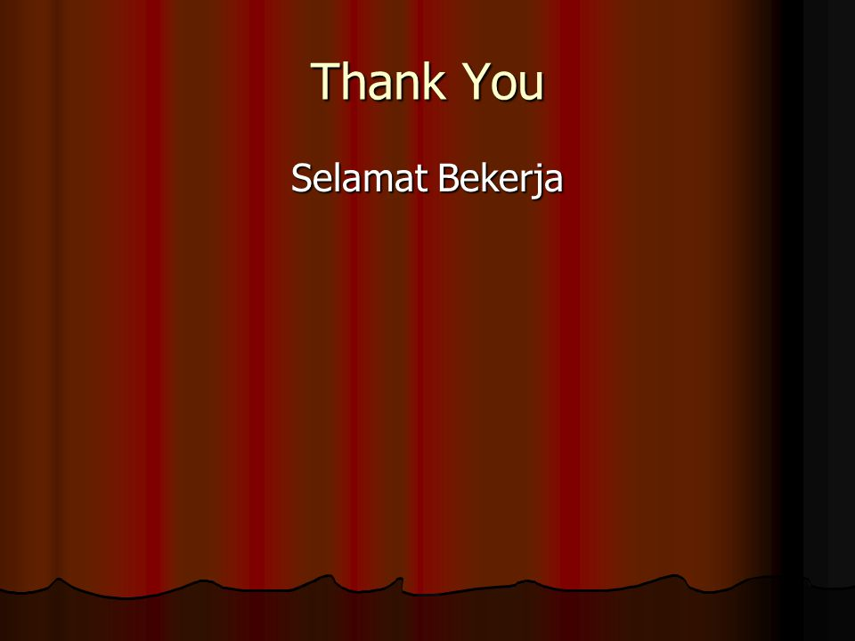 Thank You Selamat Bekerja