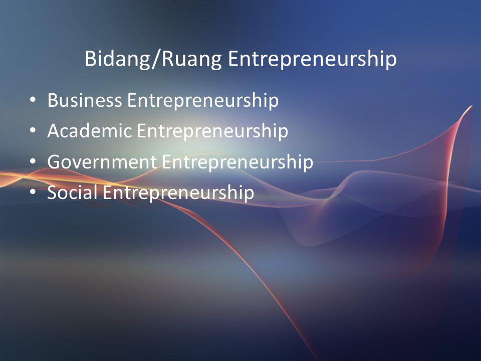 Peer Teaching Bentuk Kelompok Sharing opini/pengalaman pribadi atau orang lain berkaitan dengan ketiga golongan entrepreneur. Pilih pengalaman yg pali