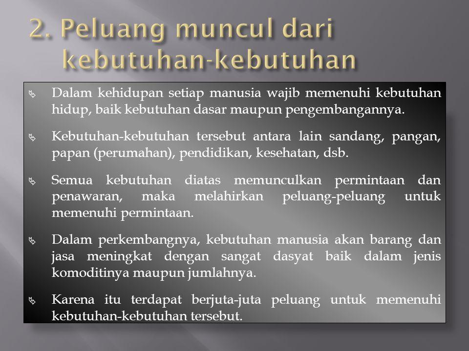 Dalam kehidupan setiap manusia wajib memenuhi kebutuhan hidup, baik kebutuhan dasar maupun pengembangannya.