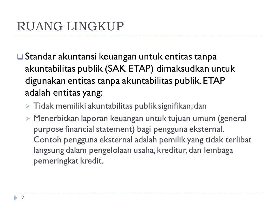 RUANG LINGKUP BAB I Oleh: Dr. Ludovicus Sensi Wondabio, CPA Anggota Dewan Standar Akuntansi Keuangan (DSAK) Ikatan Akuntan Indonesia (IAI)