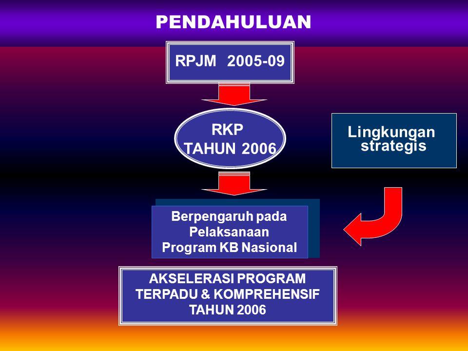 SISTEMATIKA I. PENDAHULUAN II. KEBIJAKAN, STRATEGI, PROGRAM DAN SASARAN III. KEGIATAN PROGRAM TAHUN 2006 IV. HASIL-HASIL PENCAPAIAN PROGRAM (berdasark