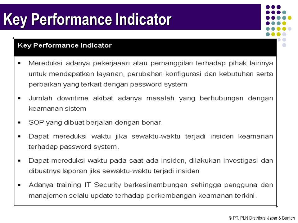 © PT. PLN Distribusi Jabar & Banten Key Performance Indicator