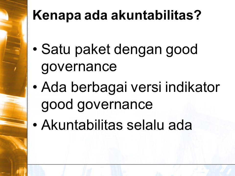 Good Governance [Deklarasi Manila] Transparan.