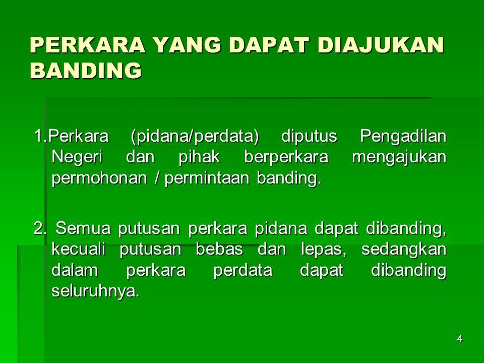 Komitmen Pengadilan Tinggi Banjarmasin 1.Kesiapan Hakim dan personil untuk menangani perkara pertambangan.