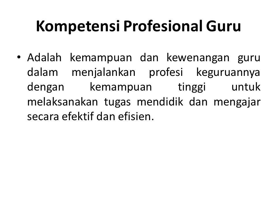 Faktor Profesionalisme Menurut Djojonegoro (1998) : 1.