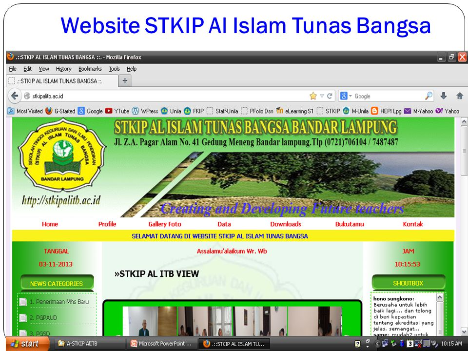 Website STKIP Al Islam Tunas Bangsa 2