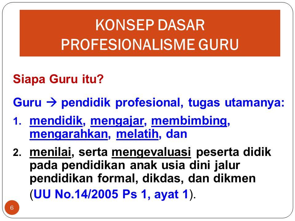 KONSEP DASAR PROFESIONALISME GURU 6 Siapa Guru itu.
