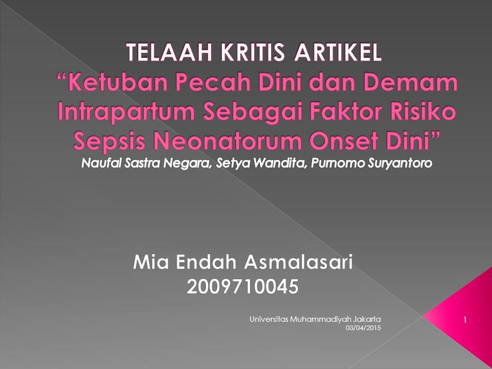 03/04/2015 Universitas Muhammadiyah Jakarta 1