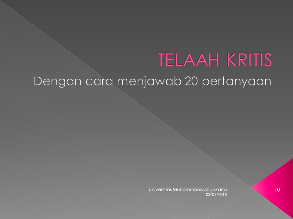 03/04/2015 Universitas Muhammadiyah Jakarta 10