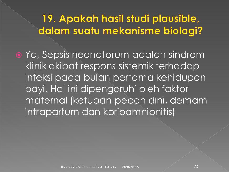  Ya, Sepsis neonatorum adalah sindrom klinik akibat respons sistemik terhadap infeksi pada bulan pertama kehidupan bayi.