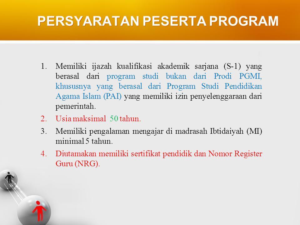 1.Memiliki ijazah kualifikasi akademik sarjana (S-1) yang berasal dari program studi bukan dari Prodi PGMI, khususnya yang berasal dari Program Studi