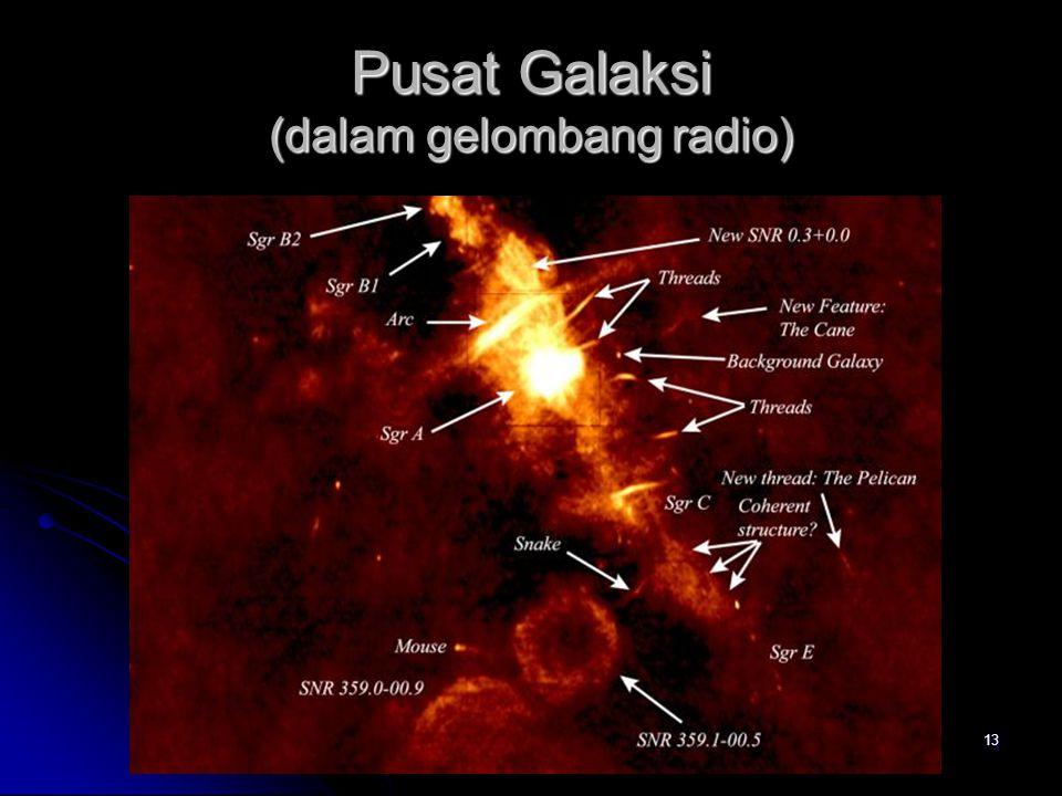13 Pusat Galaksi (dalam gelombang radio)