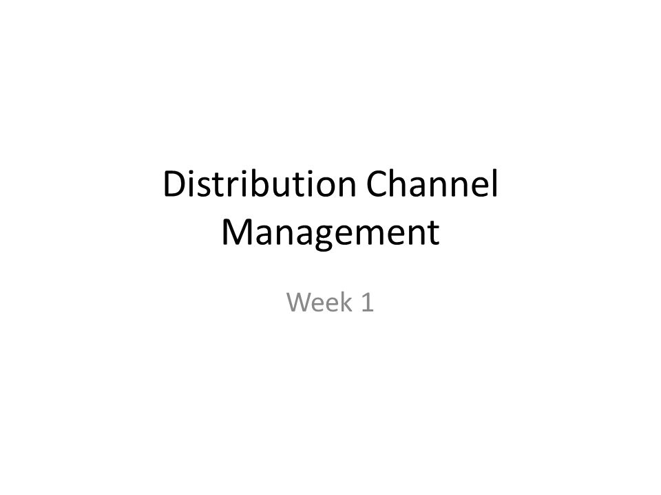 Internet Channel Typical Distribution Flow