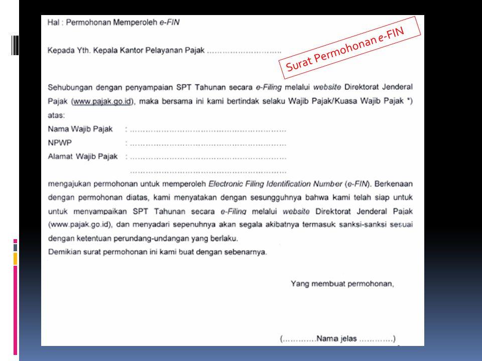 Surat Permohonan e-FIN