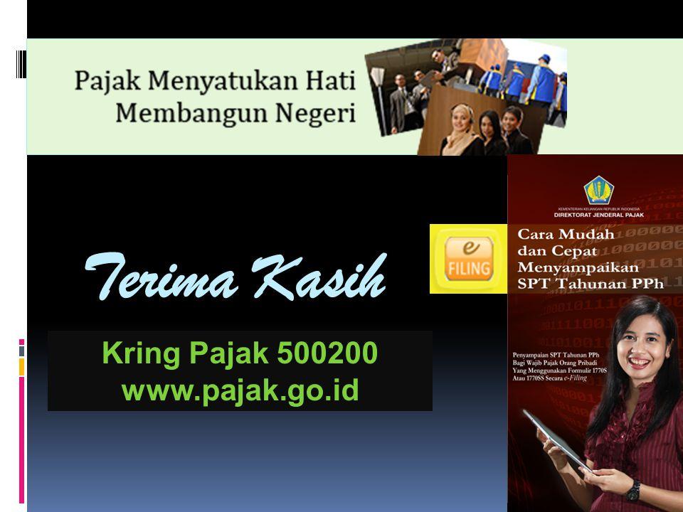 Terima Kasih Kring Pajak 500200 www.pajak.go.id